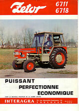 Prospectus Tracteur ZETOR 6711 6718 (2)  brochure traktor tractor prospekt