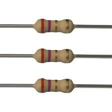 100 x 2.7 Ohm Carbon Film Resistors - 1/4 Watt - 5% - 2R7 - Fast USA Shipping