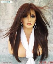 STEVIE AMORE DOUBLE MONOTOP WIG *DARK CHOCOLATE ☆ TURN HEADS W/ THIS BEAUTY 577