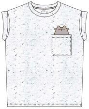 """Pusheen /""""Purrfect week-end/"""" gris pour Femme Ajusté T-shirt-NOUVEAU /& OFFICIEL!"""