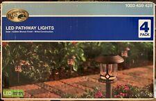 Pathway Lights LED 4-Pack 18 Lumens Solar Golden Bronze Outdoor Warm White