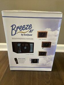 Breeze AT Air Purifier By EcoQuest NEW Factory Sealed Box, Walnut with Remote