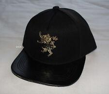 Game Of Thrones Lannister House Mens Black Premium Flat Peak Cap Hat One Size
