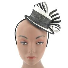 Black and White Riding Hat Victorian Steampunk Tea Party Fascinator Cosplay