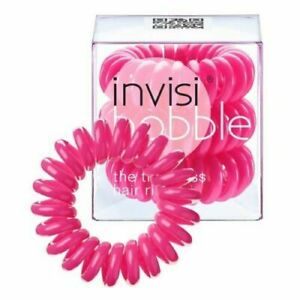 InvisiBobble, Traceless Hair Ring, PINK, 3 Hair Rings
