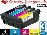 10 x Ink Cartridges 220XL for Epson WF2630 WF2650 XP220 XP320 XP324 XP420