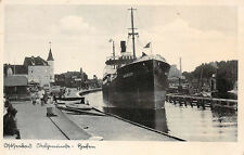 Baltic Sea Resort Stolpmünde Ship Quersee in Port Photo Card 1937