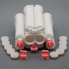 5pcs 50ml 1:1 Caulk Gun Dispenser Epoxy 2-Part Nozzles Empty AB Cartridges Tube