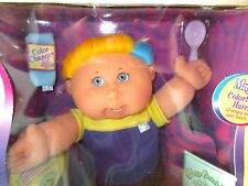 Cabbage Patch Modern BOY Magic Touch Colorsilk Blue Eyes Blond e Accents New Box