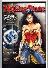WONDER WOMAN ROLLING STONES Mag Print A HAND SIGNED Jamie Tyndall w COA