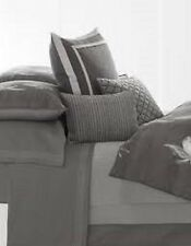 Set of 2 Vera Wang CHARCOAL FLOWER Queen Flat and Fitted Sheet - NIP