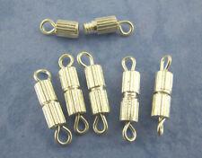 LOT de 16 FERMOIRS à VIS visser screw clasp 15mm ARGENTE foncé perles bijoux