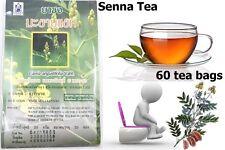 60 TEA BAGS HERB SENNA TEA  NATURAL DIET PRODUCT FAT BURNER LAXATIVE COLON DETOX
