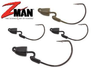 Z-Man Finesse Bullet Z Jig Heads TRD Weedless Soft Plastic Lure Fishing Zman lrf