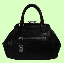 MARC JACOBS MANHATTAN Stam Black Leather Satchel Shoulder Bag Msrp $1,350.00