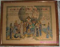 CERTIFICAT DE PASSAGE DE LA LIGNE PAQUEBOT TAHITIEN 1959 MESSAGERIES MARITIMES