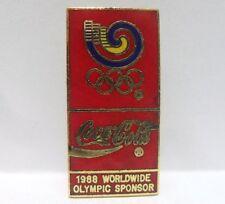 Coca-Cola - WORLDWIDE OLIMPIC SPONSOR - PINS attacco bottone innesto-anno 1988