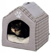Trixie Kuschelhöhle Silas für Katzen, 40 × 45 × 40 cm, grau/creme