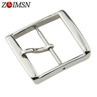 Stainless Steel Watch Band Strap Clasp Silver Polished Pin Buckle Wristwatches