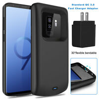 For Samsung Galaxy S8 / S9+ Plus Battery Charging Case Power Bank+QC 3.0 Adapter
