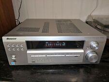 Nice Pioneer AV Receiver Amplifier Tuner Dolby 5.1 Surround VSX-D414 Silver 100W