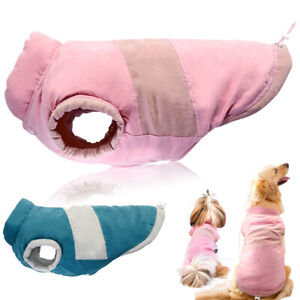 Pink Warm Dog Coat for Medium Large Dogs Winter Jackets Pet Clothes Padded Vest