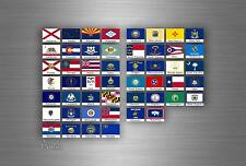 Set 50x sticker flag scrapbooking usa american states collection stamp small r3