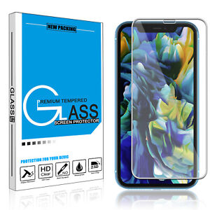 For iPhone 11/11 Pro Max/XS/XR/X Full Cover Tempered Glass Screen Protector 9H