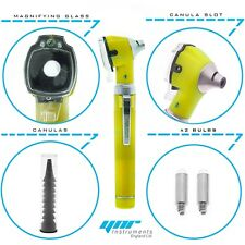YNR Yellow Mini Otoscope Pocket Fiber Optic Medical Diagnostic NHS CE Approved