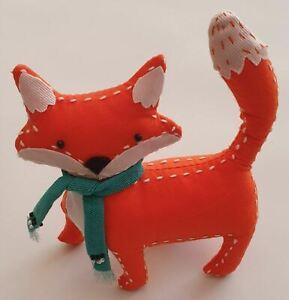 Fox Pin Cushion by JOHN LEWIS Cute Orange Fox wearing a Scarf Sewing Needlework