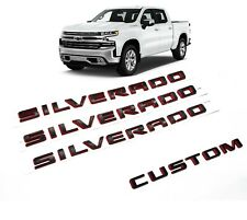 2019-2020 Chevrolet Silverado Door Silverado Black Red Emblem Custom Paint OEM