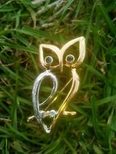 Gold And Silver Tone Owl Brooch