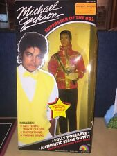 Michael Jackson Doll W/ American Music Awards Outfit Nib & 3 Never Used Outfits