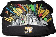 MTV Courier Bag Umhängetasche Schultertasche Shopping Laptop Tasche schwarz NEU