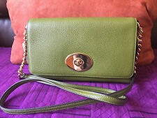 NWT Coach 53083 Crosstown Crossbody Polished Pebble Leather Moss