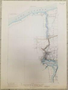 VINTAGE ANTIQUE 1948 NIAGARA FALLS New York NY USGS Topographic Topo Quad Map