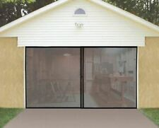 Roll Up Bug Screen Door for Single or One Car Garage