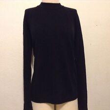 Macy's Karen Scott Women Sweater Long Sleeves CLASSIC BLACK SWEATER SIZE PXL EUC