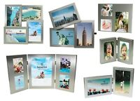 Silver Multi Aperture Picture Photo Frame 2 3 4 5 Collage Multiple Large