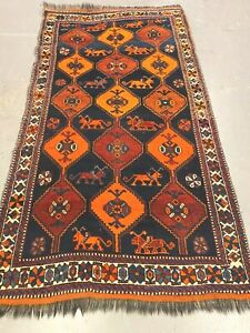 antico-swiss Beautiful Antique indoGHAHGHAII rug  4`x 7`3 ft
