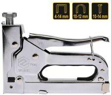 Handtacker Metall für Heftk. 6-14mm U-Kl. 10-12mm Nägel 10-14mm Inkl.600 Klammer