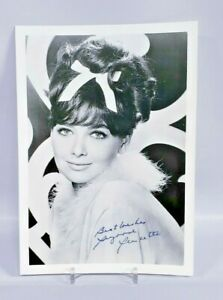 Autographed photo of a young Suzanne Pleshette 5x7 black and white