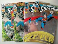 Superman DC Comic Collection, Lot of 4 - (2) 1993 #505 & (2) #82 Back for Good!