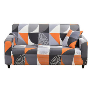 Geometric Couch Cover Slipcover Stretch 1/2/3/4 Seater Sofa Cover Universal US