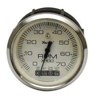 Faria Boat Tachometer Gauge TC9937A   w/ Systems Check 3 1/4 Inch