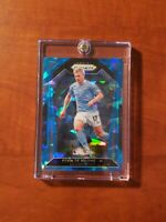 2020-2021 Panini Prizm EPL Kevin De Bruyne Blue Cracked Ice /75 Manchester City