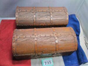 2x Vintage Treasure Chest Box