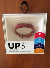 NEW! UP3 by Jawbone - Heart Rate, Activity + Sleep Tracker, Ruby Cross Red