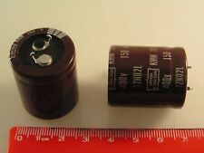 Nippon Chemicon KMM400VS151M25X30T2 Capacitor 400V 150uF 105' 2 Pieces OL0621