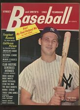1963 Street & Smith Baseball Yearbook With Tom Tresh NY Yankees Front Cover EX+